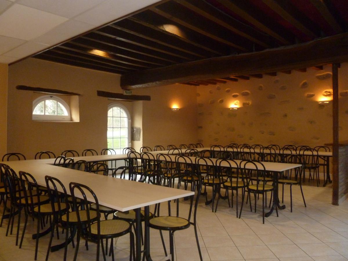 La salle aménagée pour accueillir 60 personnes<br>